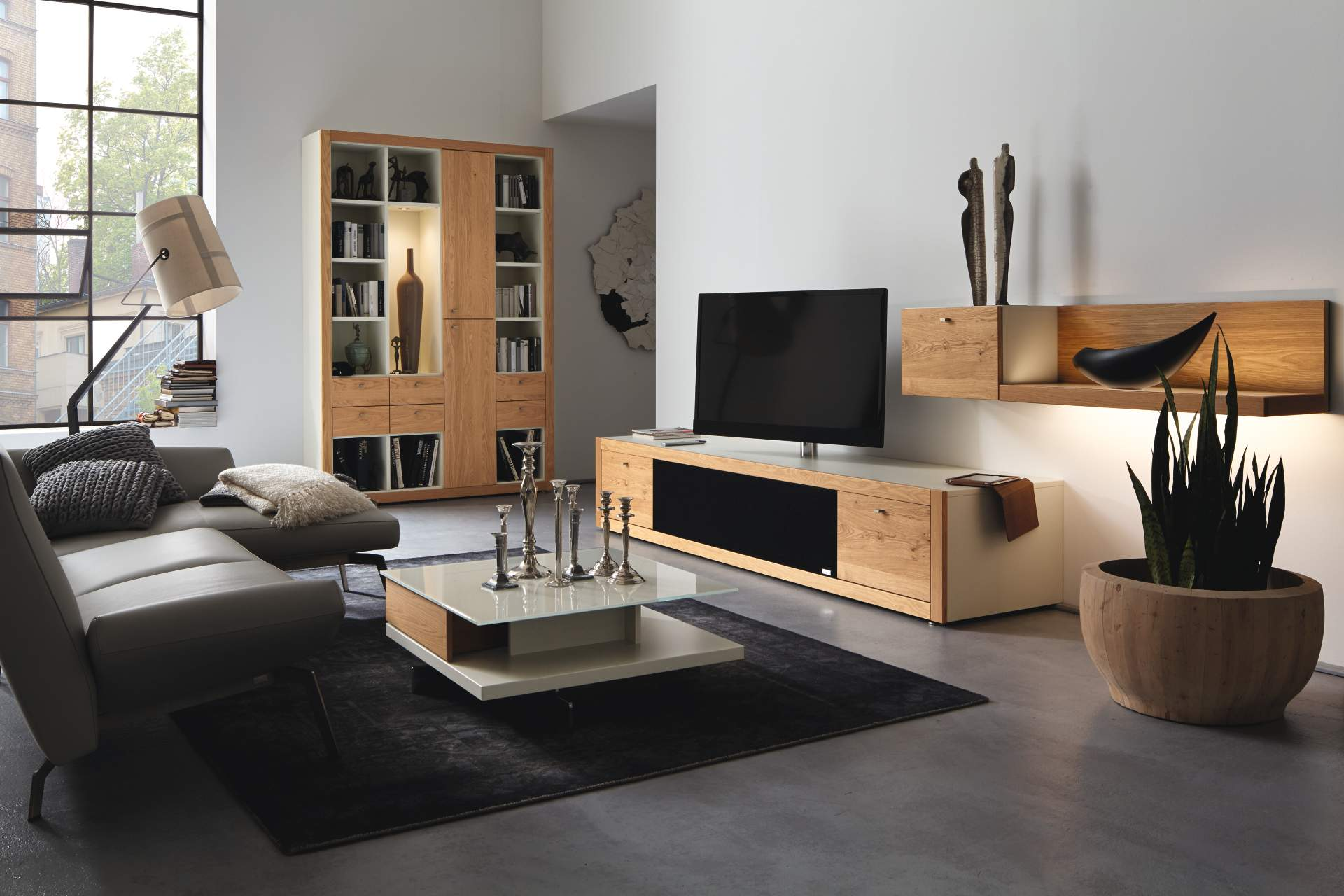 h lsta wohnzimmer m bel wohnwand sideboard. Black Bedroom Furniture Sets. Home Design Ideas