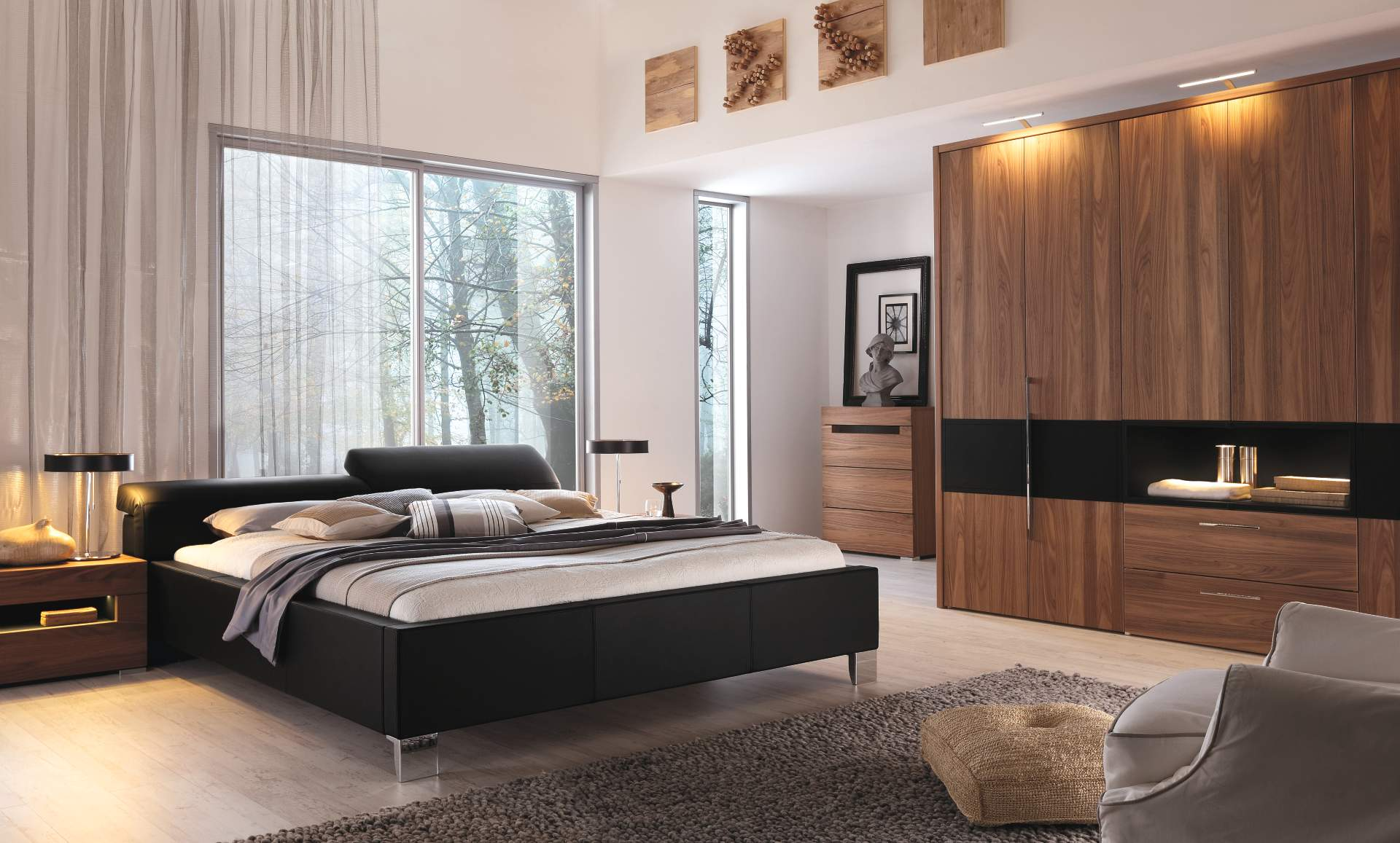 H lsta schlafzimmer m bel kleiderschrank bett for Contemporary guest bedroom ideas