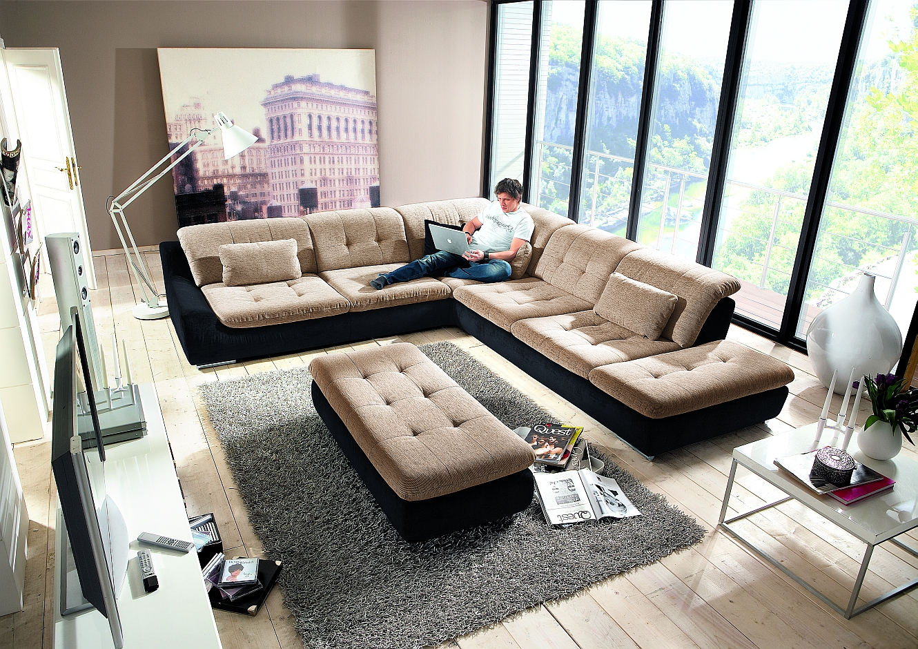 megapol sofa polsterm bel g nstig kaufen. Black Bedroom Furniture Sets. Home Design Ideas