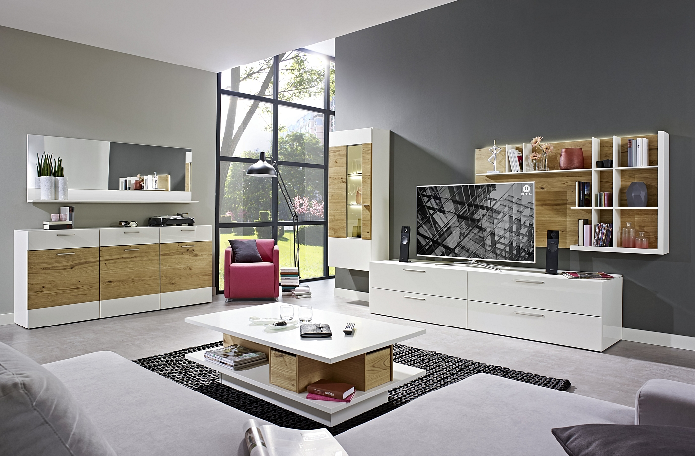 loddenkemper wohnwand m bel kito media 3000. Black Bedroom Furniture Sets. Home Design Ideas
