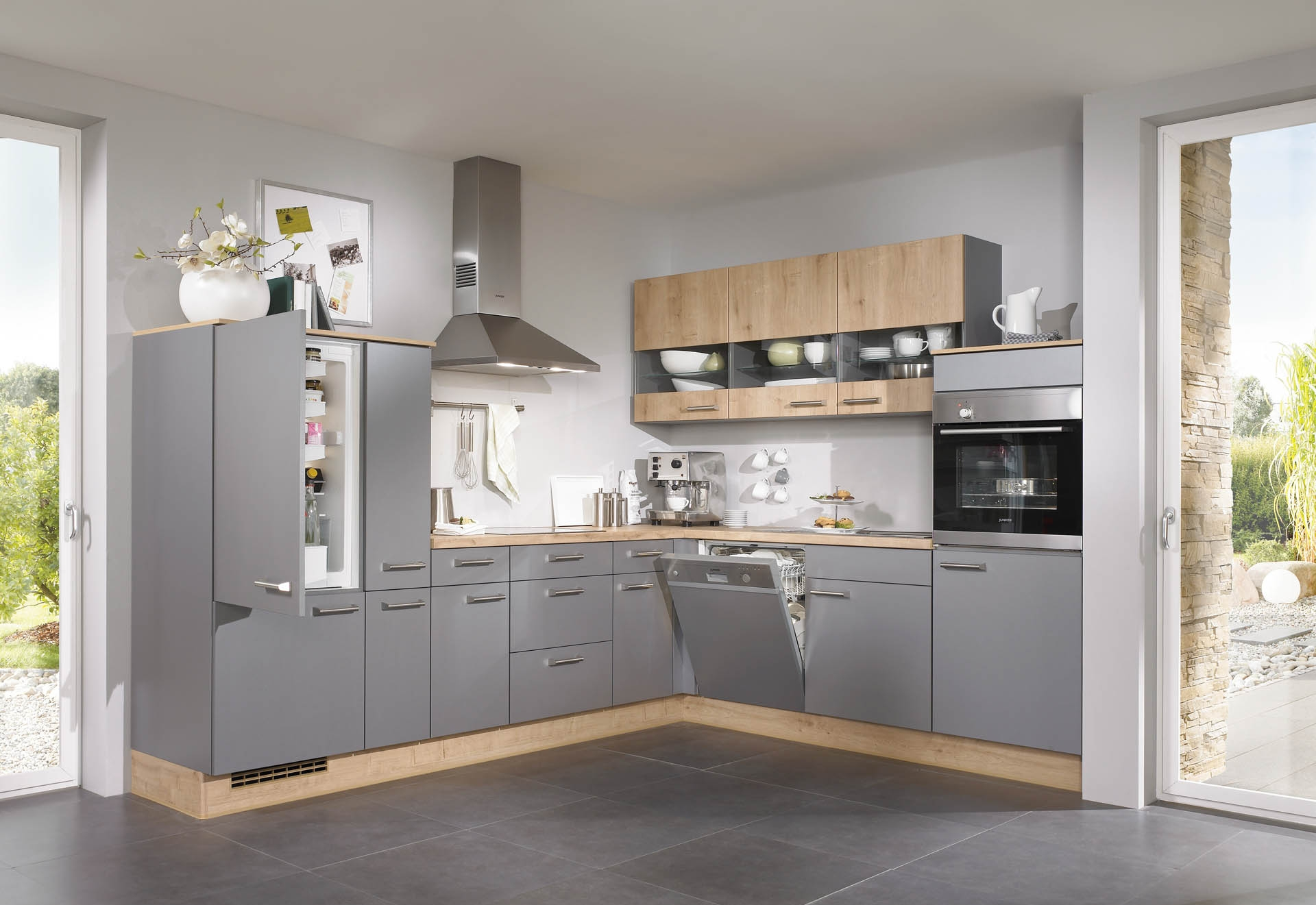 Grey Kitchen Ideas Blue